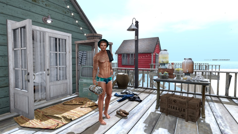 BEACH WITH TEXT